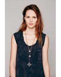 Free People | Brown Womens Double Layer Rosary | Lyst