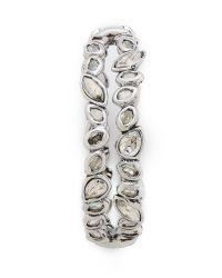 Alexis Bittar   Metallic Antique Set Crystal Stack Bracelet - Silver   Lyst