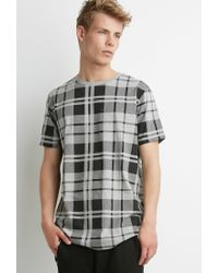 Forever 21 - Gray Plaid Print Tee for Men - Lyst