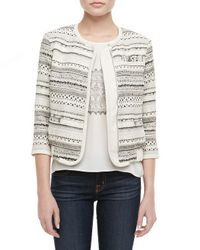 Parker | Natural Powell Patterned Zip Jacket | Lyst