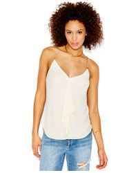 RACHEL Rachel Roy | Natural Sleeveless Chain-detail Blouse | Lyst