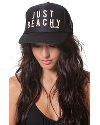 Rip Curl - Black 'just Beachy' Trucker Hat - Lyst