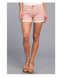 Joe's Jeans - Red Weekend Collection Rolled Short in Fire - Lyst