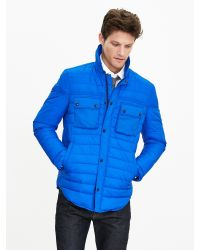 Banana Republic | Blue Primaloft Shirt Jacket for Men | Lyst