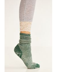 Urban Outfitters - Green Cozy Lined Boot Sock - Lyst
