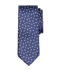Brooks Brothers | Blue Satin Pine Tie for Men | Lyst