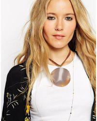 ASOS | Metallic Oversized Agate Stone Choker Necklace | Lyst
