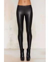 Nasty Gal | Black Real Slick Coated Leggings | Lyst