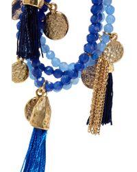 Rosantica - Blue Kilimangiaro Tasseled Gold-tone Quartz Bracelet - Lyst
