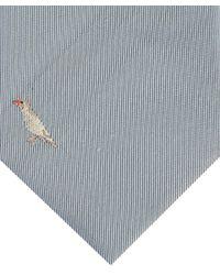 Paul Smith - Gray Light Grey Bird Print Silk Tie for Men - Lyst