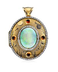 Theo Fennell | Multicolor Opal Night & Day Locket | Lyst