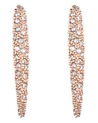 Alexis Bittar | Pink 'miss Havisham' Encrusted Crescent Drop Earrings | Lyst