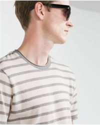 Zara | Gray Striped Sweater for Men | Lyst