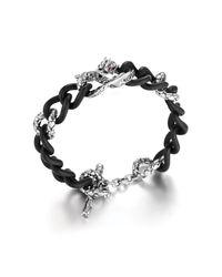 John Hardy - Black Dragon Bracelet On Slim Chain Link With Toggle Clasp - Lyst