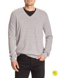 Banana Republic | Gray Factory Merino Vee Pullover for Men | Lyst