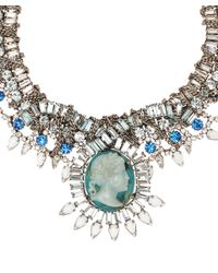 DANNIJO - Blue Oxidised Silver Louise Cameo Necklace - Lyst