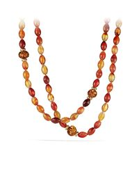 David Yurman | Multicolor Dy Signature Collection Bead Necklace In Gold | Lyst
