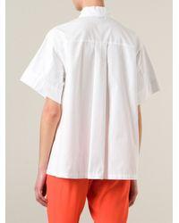 Isola Marras - White Box-Fit Short Sleeve Shirt - Lyst