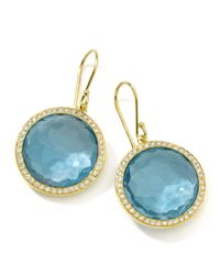 Ippolita | Metallic Rock Candy Blue Topaz Drop Earrings | Lyst