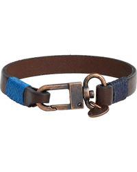 Caputo & Co. - Brown Leather Bracelet for Men - Lyst