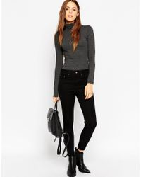 ASOS   Gray The Polo Neck With Long Sleeves   Lyst