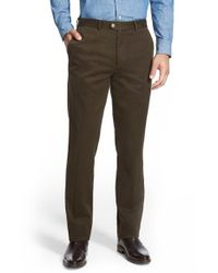 Bensol - Brown Slim Cotton Moleskin Pants for Men - Lyst
