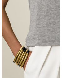 Forte Forte - Black Wrap Bracelet - Lyst