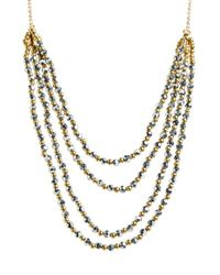 Panacea | Metallic Beaded Multistrand Necklace | Lyst