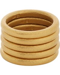 Linda Lee Johnson - Metallic Set Of Five Gold Bands - Lyst