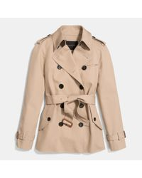 COACH | Natural Modern Short Trench | Lyst