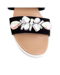 Carvela Kurt Geiger | Black Bret Flat Slip On Sandals | Lyst