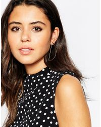 ASOS - Metallic Semi Circle Earrings - Lyst