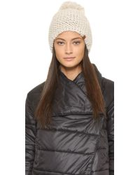 Bickley + Mitchell | White Pom Pom Beanie | Lyst