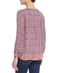 Joie - Multicolor Pazima Floral-print Silk Top - Lyst