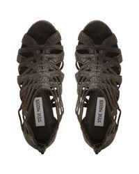 Steve Madden - Black Marquee Caged Heel Sandals - Lyst