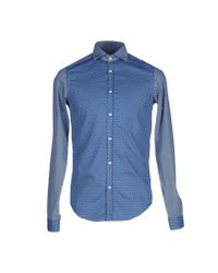 Aglini | Blue Shirt for Men | Lyst