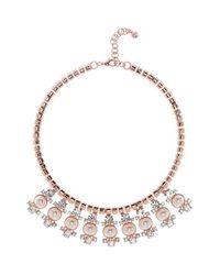 Ted Baker - Pink 'orah' Bib Necklace - Lyst