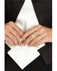 Maria Black - Metallic Spike Monocle 18-Karat Gold Diamond Ring - Lyst