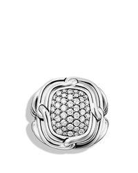 David Yurman - Metallic Labyrinth Small Ring With Diamonds - Lyst
