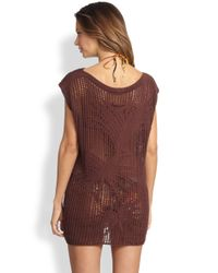Jean Paul Gaultier - Brown Open Knit Tunic - Lyst