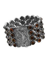 Konstantino - Metallic Sterling Silver Citrine & Cognac Cuff - Lyst