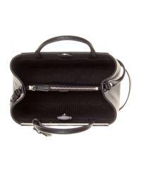 Fendi Black 2jours Embellished Leather Tote