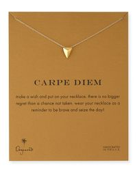 Dogeared | Metallic Gold-Dipped Carpe Diem Necklace | Lyst