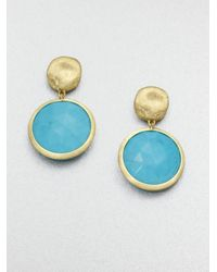 Marco Bicego | Blue Jaipur Resort Turquoise & 18K Yellow Gold Drop Earrings | Lyst