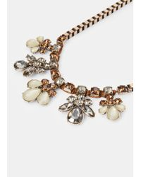 Violeta by Mango | Metallic Faceted Crystal Necklace | Lyst