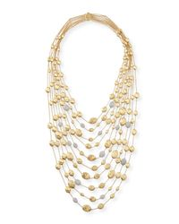 Marco Bicego | Metallic 18k Gold Diamond Siviglia Multi-strand Bib Necklace | Lyst