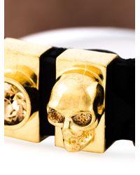 Alexander McQueen   Black Embellished Skull Bracelet   Lyst