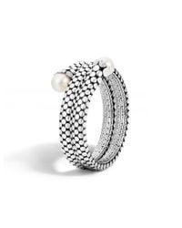 John Hardy | Metallic Dot Double Coil Bracelet | Lyst