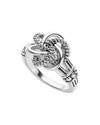 Lagos - Metallic 'love Knot' Ring - Lyst