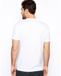 SELECTED - White Grandad T-Shirt In Pima Cotton for Men - Lyst